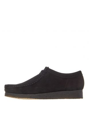 Clarks Originals Wallabee Shoes 26133279 Black Suede