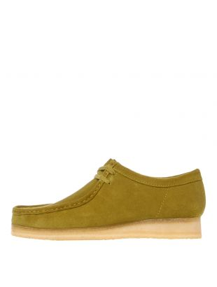 Clarks Originals Wallabee Shoes 26146513 Khaki Suede