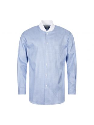 Comme des Garcons SHIRT Check Shirt Ribbed Collar W27075 2 Blue