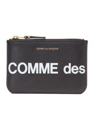 Comme des Garcons Wallet Logo | SA8100HL BLACK