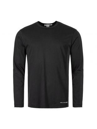 Comme des Garcons SHIRT Long Sleeve T-Shirt | W27110 1 Black