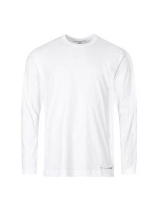 Comme des Garcons SHIRT Long Sleeve T-Shirt W27110 2 White
