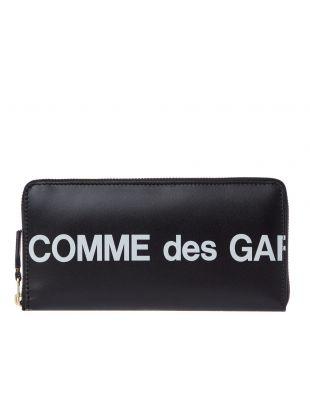 Comme des Garcons Wallet Logo | SA0110HL BLACK