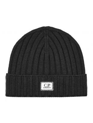 cp company beanie logo patch MAC214A 005509A 888 navy