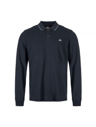 CP Company Long Sleeve Polo Shirt MPL104A 005263W 888 Total Eclipse