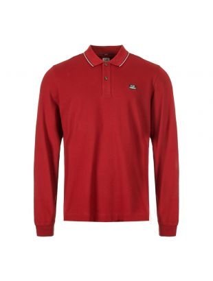 CP Company Long Sleeve Polo Shirt MPL104A 005263W 576 Red
