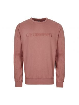 cp company sweatshirt embroidered logo MSS089A 002246G 583 dusty pink