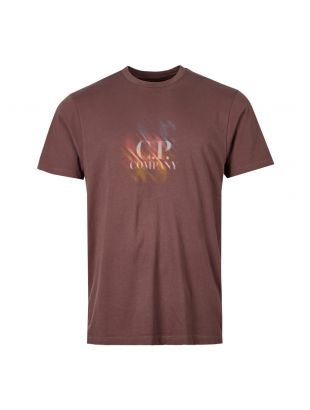 CP Company T-Shirt Logo | MTS239A 005621W 792 Peppercorn / Brown