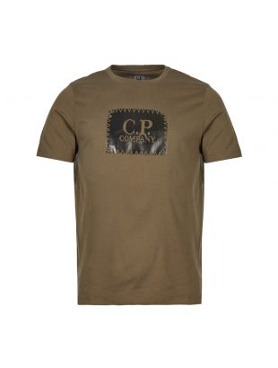 CP Company T-Shirt Printed Label MTS099A 005100W 661 Olive