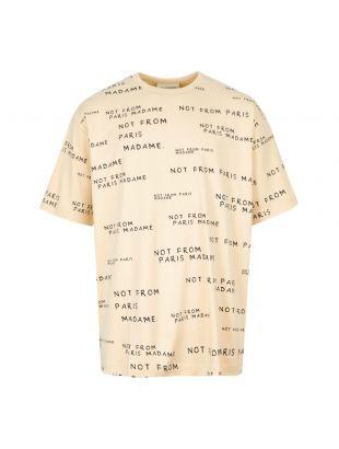 Drôle de Monsieur T-Shirt Slogan FW19 NELSON SD Sand