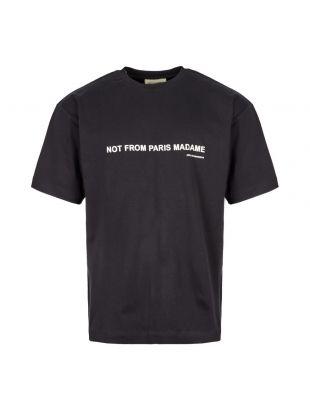 Drôle de Monsieur T-Shirt FW19 PORTO BL Black