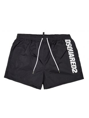 DSquared Swim Shorts Black Logo D7B642420 200