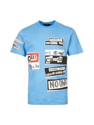 Dsquared2 T-Shirt S74GD05 10 S21600 483 In Blue