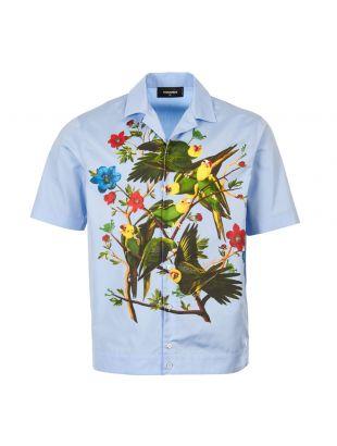 dsquared2 short sleeve shirt S71DM0287 S36275 471 blue