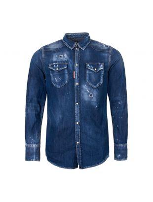 DSquared Denim Western Shirt S7DM0226 S30341 470 Blue Wash