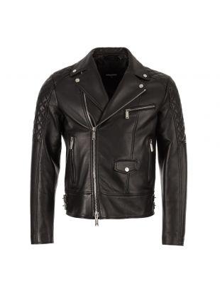 dsquared leather aviator jacket S74AM0759 SX8131 900 black