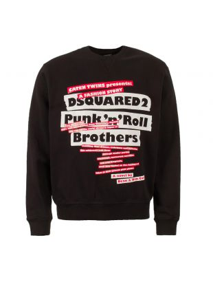 dsquared logo sweatshirt S74GU0311 S25305 900 black