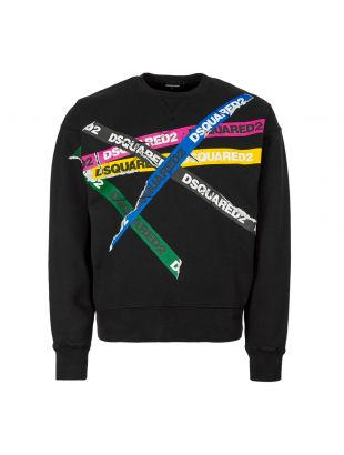 DSquared Sweatshirt S74GU0337 S25030 900 In Black  Tape Logo