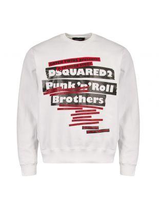 dsquared sweatshirt S74GU0311 S25305 100 white