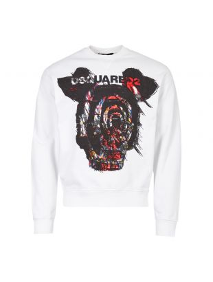 DSquared Sweatshirt Logo S71GU0312 S25305 100 White Graphic Aphrodite