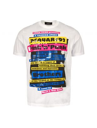 DSquared Pink N Punk T-Shirt | S74GD0523 S22427 100 White