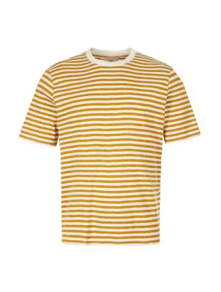 Folk T-Shirt | FM5243J Ecru / Golden Yellow Stripe