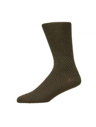 Folk Socks Waffle | FM5167A Olive