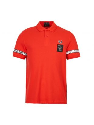 Fred Perry Art Comes First Polo Shirt SM5121 269 Red