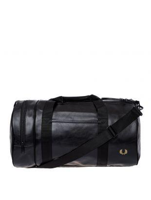 Fred Perry Barrel Bag   L7223 102 Black / Gold