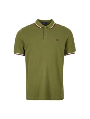 Fred Perry Polo Shirt Twin Tip  M3600 H94 Cypress Green