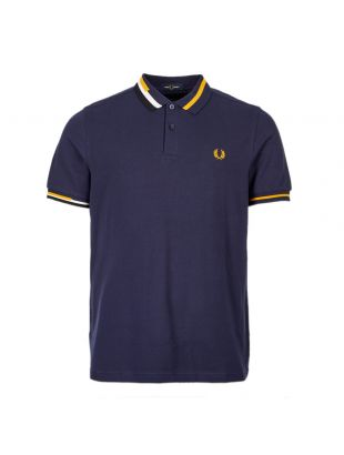 Fred Perry Polo Abstract Collar M7604 266 Carbon Blue