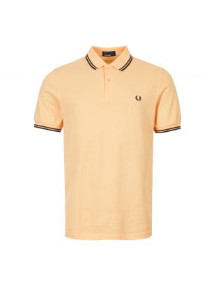 Fred Perry Polo Shirt Twin Tipped | M3600 107 Orange / Black