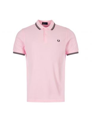 Fred Perry Polo Shirt Twin Tip M3600 336 Pink Lady