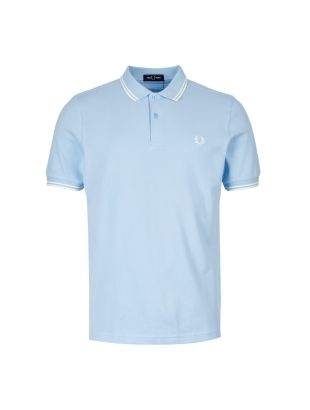 Fred Perry Twin Tipped Polo Shirt | M3600 I72 Summer Blue