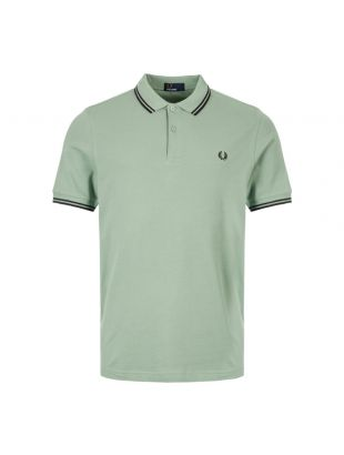 Fred Perry Polo Shirt Twin Tip M3600 I10 Green / Black