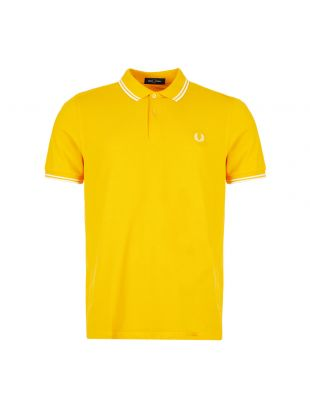 Fred Perry Twin Tipped Polo Shirt | M3600 I68 Sunglow / Snow White