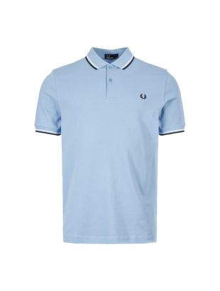 Fred Perry Polo Shirt Twin Tip M36I08 Sky / White / Black