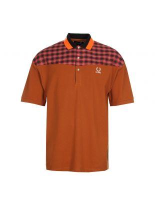 fred perry x raf simons polo shirt SM4109 G73 caramel