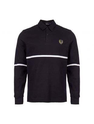 Fred Perry Long Sleeve Polo Shirt M5585 608 Navy
