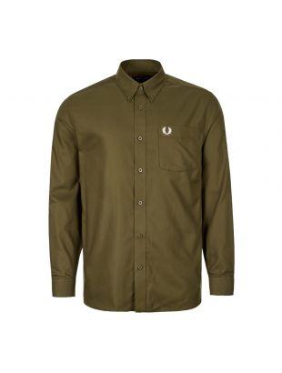 Fred Perry Oxford Shirt   M7550 G78 Dark Thorn / Green