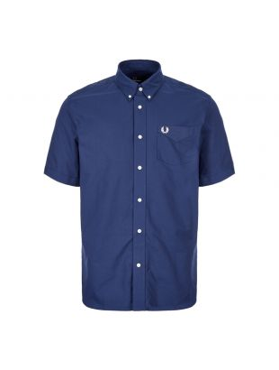 Fred Perry Short Sleeve Shirt M6601 143 French Navy