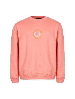 fred perry sweatshirt fleeceback M5514 G88 peach