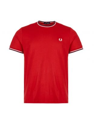 Fred Perry T-Shirt Twin Tipped | M1588 I56 Siren / Red