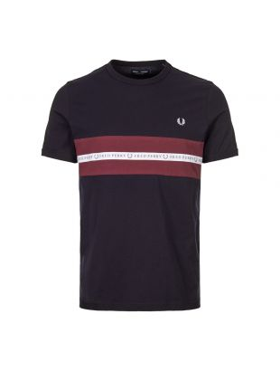 Fred Perry T-Shirt Sports Tape M5569 608 In Navy