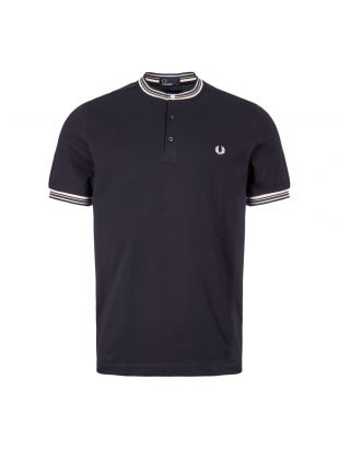 Fred Perry T-Shirt Henley Pique M6514 608 In Navy