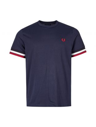 fred perry t-shirt bold tipped M7539 266 navy