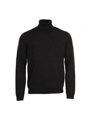 Fred Perry Roll Neck Sweater K2503 948 Charcoal Marl