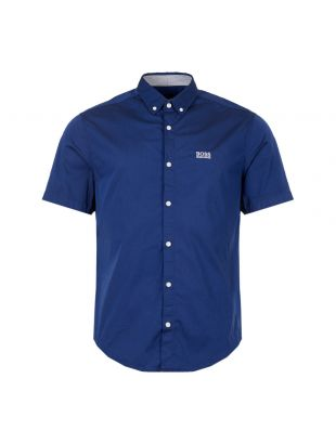 BOSS Athleisure Short Sleeve Shirt  50408874 422 In Blue