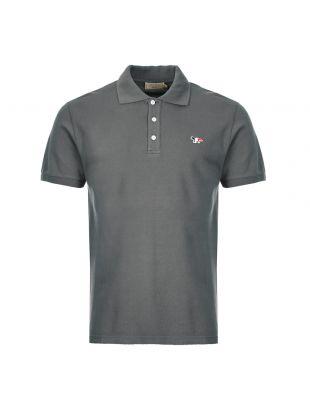 Maison Kitsune Polo Shirt Fox Patch DM00210K J7002 AN Grey