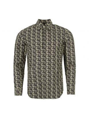 Maison Margiela Shirt Cube Logo   S30DL0423 S49869 001S Black / Taupe   Aphrodite1994